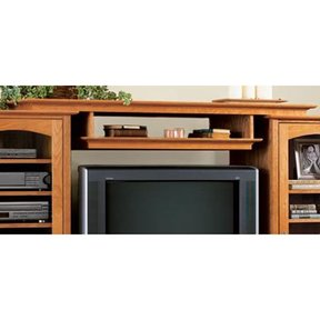Woodworking Project Paper Plan to Build Entertainment Center Bridge and Shelf