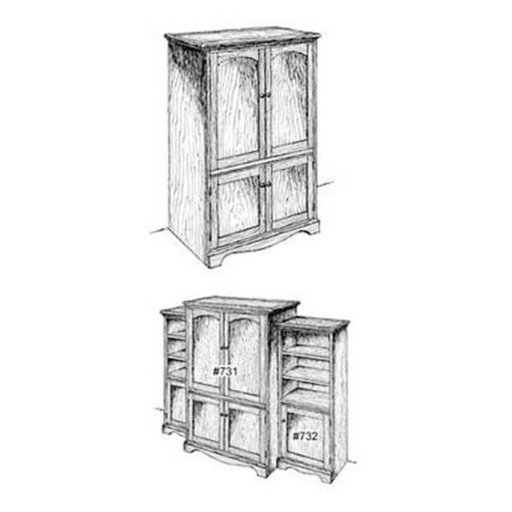 View a Larger Image of Woodworking Project Paper Plan to Build Entertainment Center