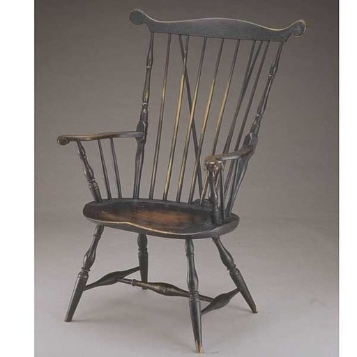 View a Larger Image of Woodworking Project Paper Plan to Build Fan Back Windsor Arm Chair, AFD107