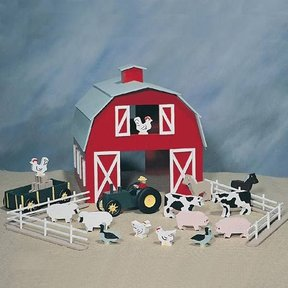 Woodworking Project Paper Plan to Build Farm Playset, Plan No. 898