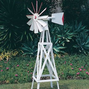 Woodworking Project Paper Plan to Build Farm-Style Windmill, Plan No. 695