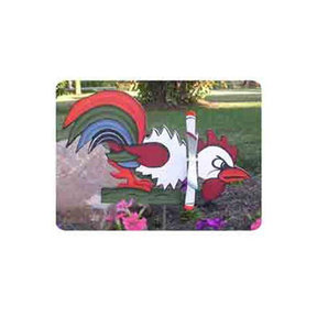Woodworking Project Paper Plan to Build Fighting Rooster Whirligig