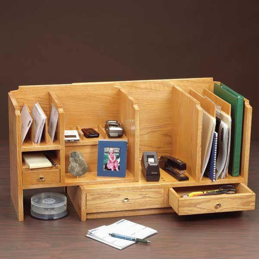 View a Larger Image of Woodworking Project Paper Plan to Build Fits-All Desktop Organizer