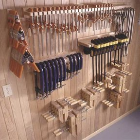 Woodworking Project Paper Plan to Build Five Great Clamp Organizers