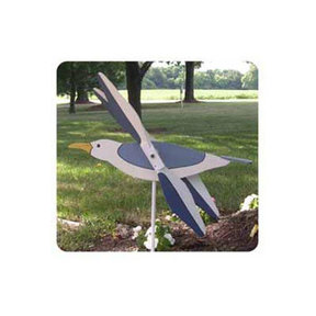 Woodworking Project Paper Plan to Build Flying Seagull Whirligig