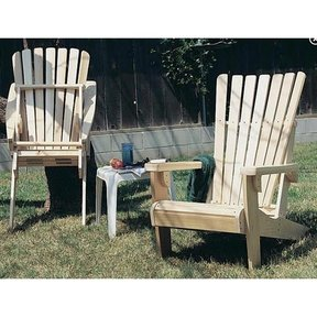 Woodworking Project Paper Plan to Build Folding Adirondack Chair Plan