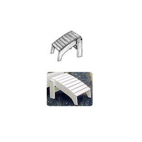 Woodworking Project Paper Plan to Build Folding Adirondack Footrest