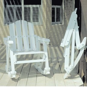 Woodworking Project Paper Plan to Build Folding Rocker, Plan No. 845