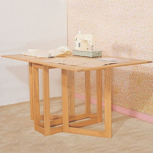 View a Larger Image of Woodworking Project Paper Plan to Build Folding Work Table, Plan No. 832