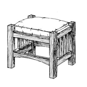 Woodworking Project Paper Plan to Build Foot Rest for Morris Chair