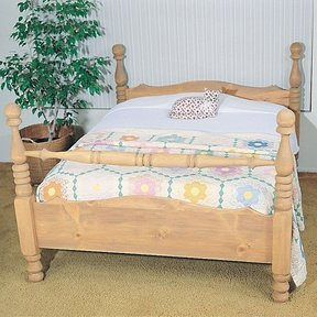 Woodworking Project Paper Plan to Build Four-Poster Bed, Plan No. 759