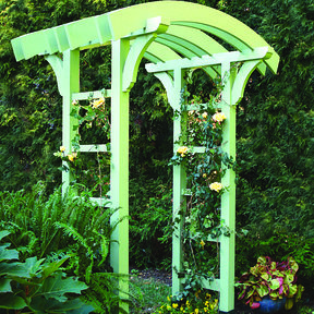 Woodworking Project Paper Plan to Build Garden Arbor and Gate