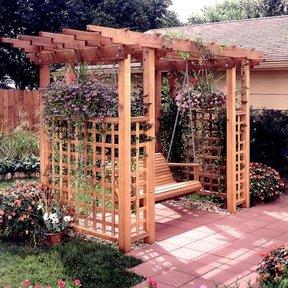 Woodworking Project Paper Plan to Build Garden Arbor Getaway