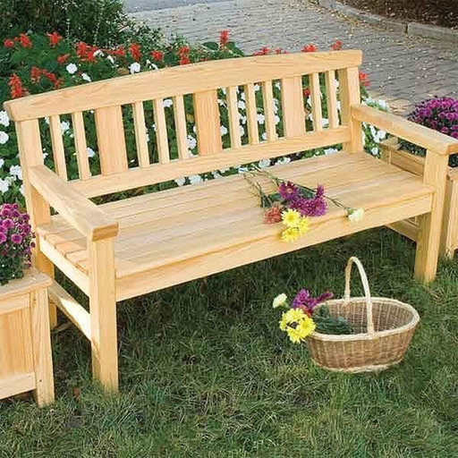 View a Larger Image of Woodworking Project Paper Plan to Build Garden Bench