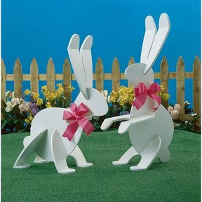 Woodworking Project Paper Plan to Build Garden Wabbits