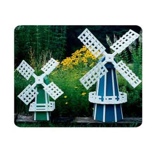 View a Larger Image of Woodworking Project Paper Plan to Build Garden Windmill - 2 Pack