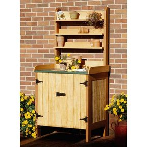 Woodworking Project Paper Plan to Build Gardener's Potting Bench
