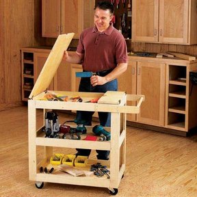 Woodworking Project Paper Plan to Build Getr-Done Shop Cart
