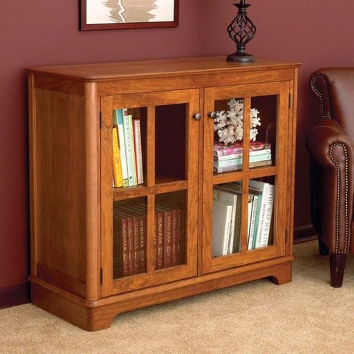 View a Larger Image of Woodworking Project Paper Plan to Build Glass-Door Bookcase