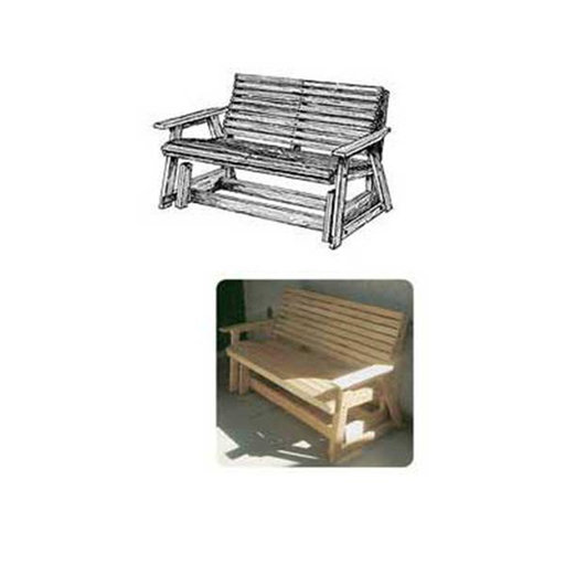 View a Larger Image of Woodworking Project Paper Plan to Build Glider Bench