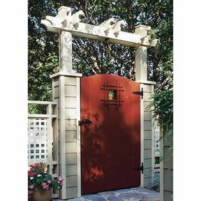Woodworking Project Paper Plan to Build Grand Entrance Garden Gate