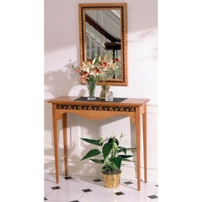 Woodworking Project Paper Plan to Build Hall Table & Mirror