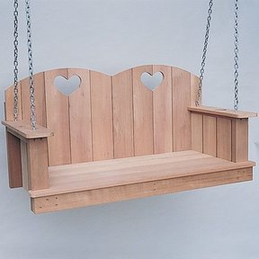 Woodworking Project Paper Plan to Build Hanging Loveseat, Plan No. 780