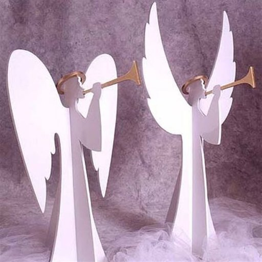 View a Larger Image of Woodworking Project Paper Plan to Build Heavenly Winds Angels