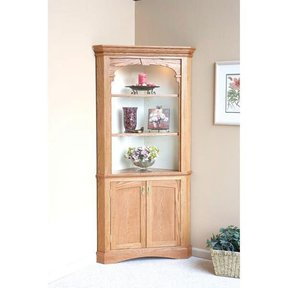 Woodworking Project Paper Plan to Build Heirloom Corner Cabinet