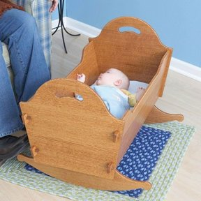 Woodworking Project Paper Plan to Build Heirloom Cradle with Storage Box