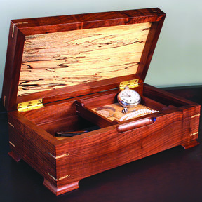 Woodworking Project Paper Plan to Build Keepsake/Jewelry Box