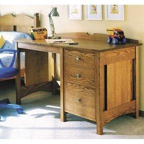 Woodworking Project Paper Plan to Build Kid's Oak Desk