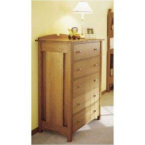 Woodworking Project Paper Plan to Build Kid's Oak Dresser