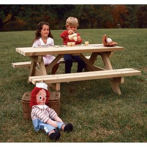 Woodworking Project Paper Plan to Build Kid's Picnic Table