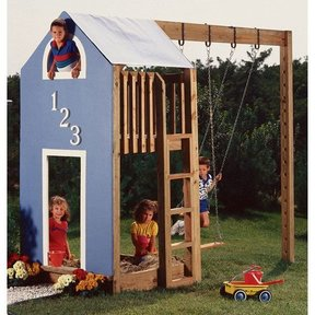 Woodworking Project Paper Plan to Build Kid's Play Structure