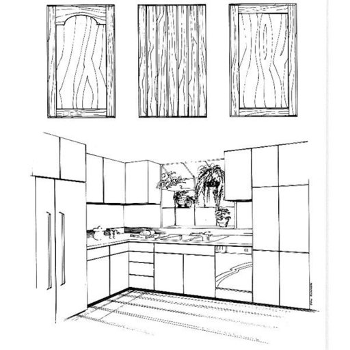 View a Larger Image of Woodworking Project Paper Plan to Build Kitchen Cabinets, Plan No. 721