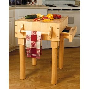 Woodworking Project Paper Plan to Build Kitchen Work Center