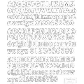 Woodworking Project Paper Plan to Build Letters & Numbers Alphabet 2