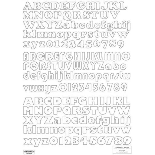 View a Larger Image of Woodworking Project Paper Plan to Build Letters & Numbers Alphabet 3