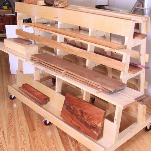 View a Larger Image of Woodworking Project Paper Plan to Build Lumber & Sheet Goods Storage Rack