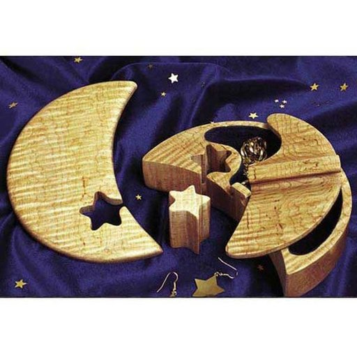 View a Larger Image of Woodworking Project Paper Plan to Build Lunar Jewelry Box