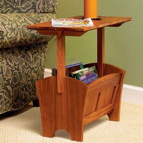 Woodworking Project Paper Plan to Build Magazine Rack/Table