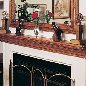 Woodworking Project Paper Plan to Build Mantelpiece, Plan No. 806