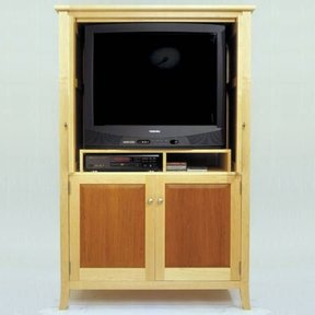 Woodworking Project Paper Plan to Build Maple & Cherry Armoir/Entertainment Center