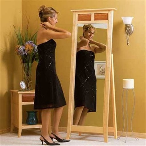 View a Larger Image of Woodworking Project Paper Plan to Build Maple & Cherry Cheval Mirror