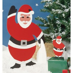 Woodworking Project Paper Plan to Build Medium & Small Santa