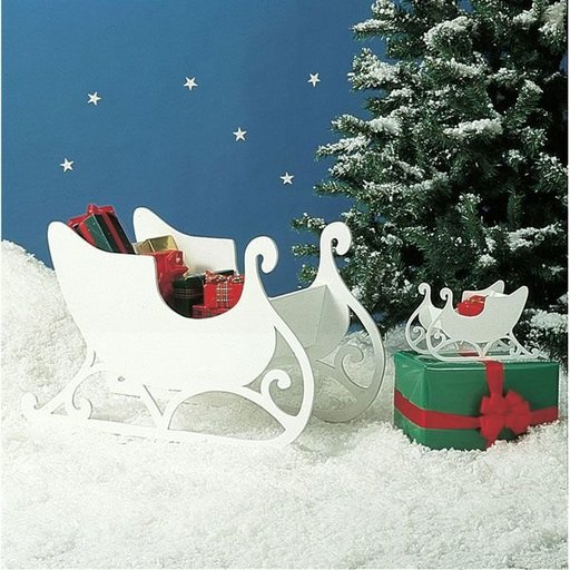 View a Larger Image of Woodworking Project Paper Plan to Build Medium & Small Sleigh