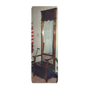 Woodworking Project Paper Plan to Build Mirrored Hall Tree