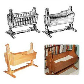 Woodworking Project Paper Plan to Build Mission American Baby Cradle