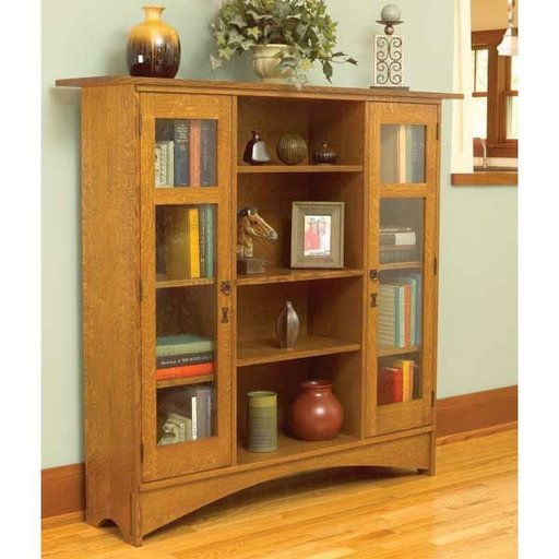 View a Larger Image of Woodworking Project Paper Plan to Build Mission Bookcase